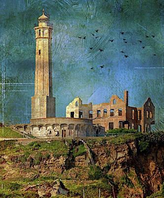 Photograph - Alcatraz Lighthouse by Caroline Stella