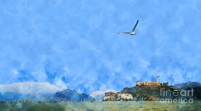 Alcatraz Painting - Alcatraz by Methune Hively