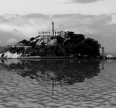 Bay Area Digital Art - Alcatraz by Michael Bergman