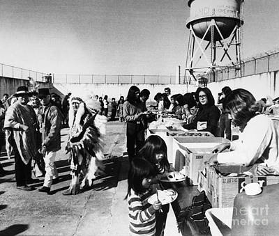 Photograph - Alcatraz Occupation, 1969 by Granger