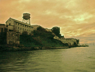 Photograph - Alcatraz Prison by Gary Brandes