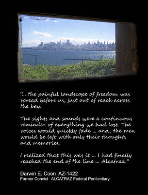 Alcatraz Reality - The Painful Landscape Of Freedom Art Print