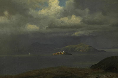 Alcatraz, San Francisco Bay Print by Albert Bierstadt