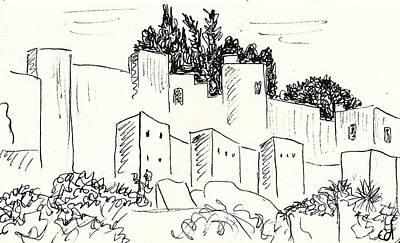Alcazaba In Malaga Art Print by Chani Demuijlder