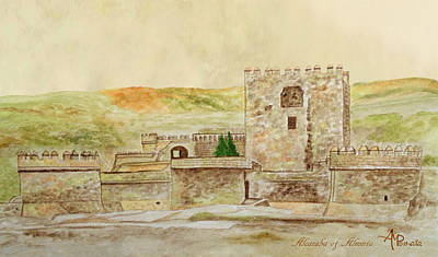 The Complex Painting - Alcazaba Of Almeria by Angeles M Pomata