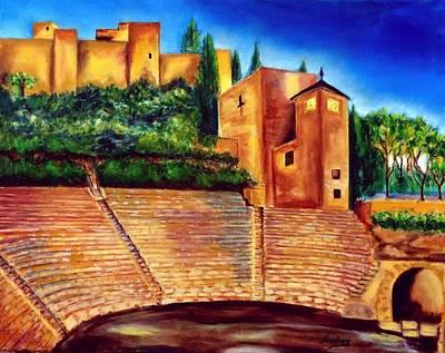 Painting - Alcazaba Y Teatro Romano by Manuel Sanchez