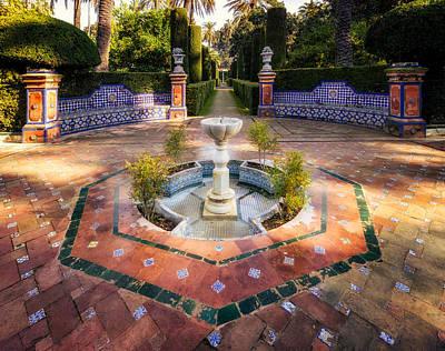 Photograph - Alcazar De Sevilla Garden Fountain by Adam Rainoff