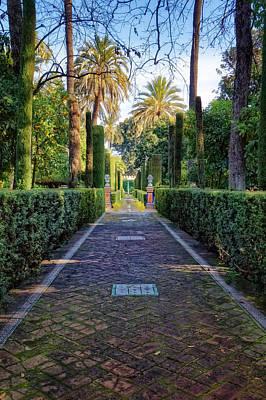 Photograph - Alcazar De Sevilla Garden Path by Adam Rainoff
