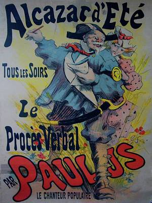Alcazar D'ete Original Vintage French Poster Original