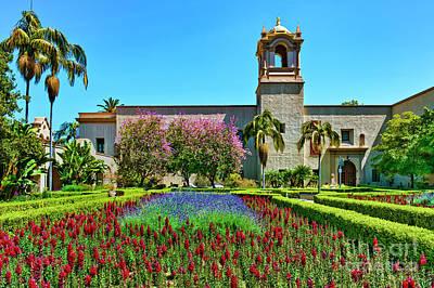 Photograph - Alcazar Garden Balboa Park San Dego by David Zanzinger