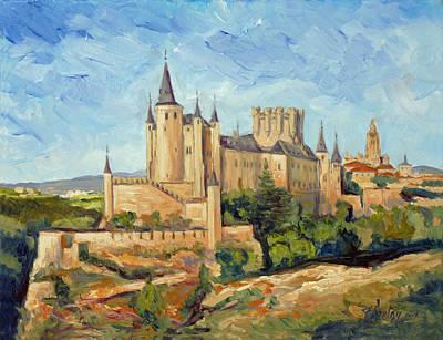 Alcazar In Segovia Art Print