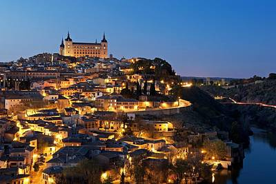 Photograph - Alcazar Of Toledo At Night by Stephen Taylor