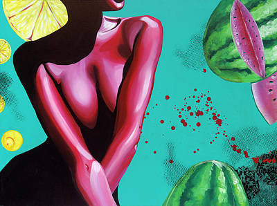 Painting - Alchemy II_Watermelon by Aramis Hamer