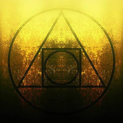 Emblem Digital Art - Alchemy - Squared Circle by Edouard Coleman