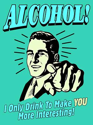 Mixed Media - Alcohol by Dominic Piperata