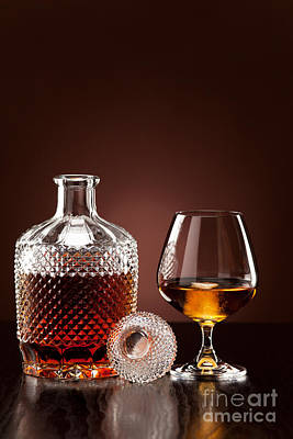 Alcohol Photograph - Alcohol In Carafe And Glass by Wolfgang Steiner
