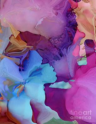 Painting - Alcohol Ink Flowers by Klara Acel