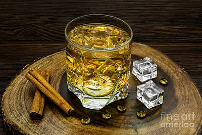 Photograph - Alcoholic Beverage With Cinnamon And Ice by Nika Lerman