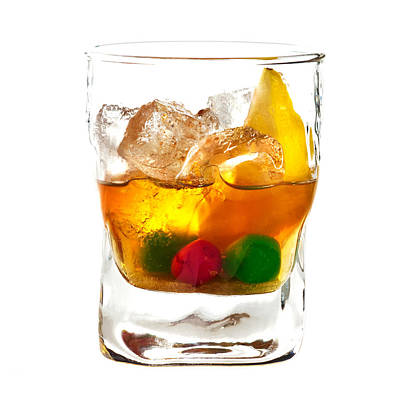 Alcoholic Cocktail Art Print by Boyan Dimitrov