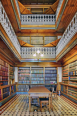 Photograph - Alcove - Iowa State Law Library by Nikolyn McDonald