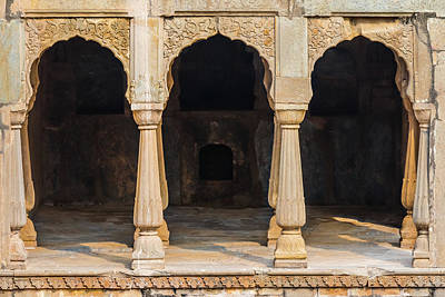 Photograph - Alcoves At Chand Baori Stepwell by Nila Newsom