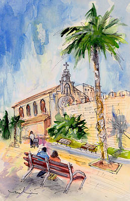 Painting - Alcudia Church In Majorca by Miki De Goodaboom