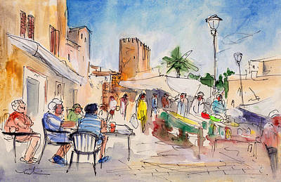 Painting - Alcudia Market In Majorca 01 by Miki De Goodaboom