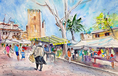 Painting - Alcudia Market In Majorca 02 by Miki De Goodaboom