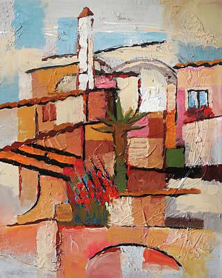 Del Mar Wall Art - Painting - Aldea Del Mar Impression by Lutz Baar