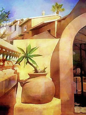 Painting - Aldea Del Mar by Lutz Baar