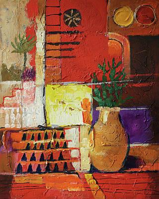 Del Mar Wall Art - Painting - Aldea Rojo by Lutz Baar