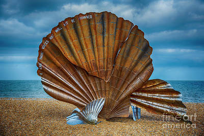 Britten Photograph - Aldeburgh Scallop Shell by Chris Thaxter