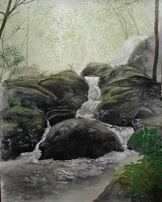 Alder Creek  Art Print by Shanti Parks