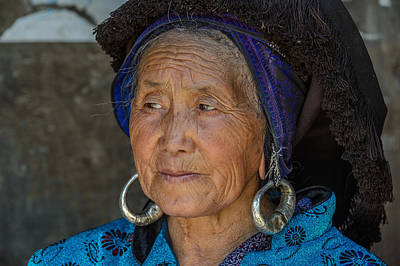 Photograph - Elderly Miao Chinese Woman by Judith Barath