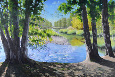 Painting - Alders Framing American River by Mike Patterson