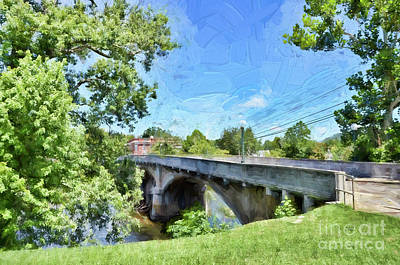 Photograph - Alderson Memorial Bridge Alderson West Virginia by Kerri Farley