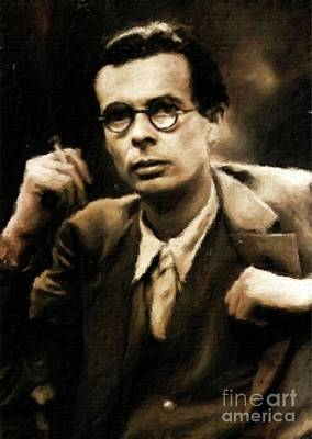 Vintage Painter Painting - Aldous Huxley, Literary Legend By Mary Bassett by Mary Bassett