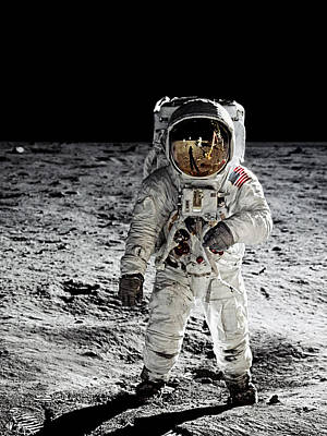 Photograph - Aldrin On The Moon by Weston Westmoreland