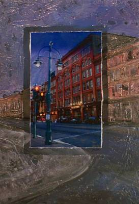 Ale Mixed Media - Ale House And Street Lamp by Anita Burgermeister