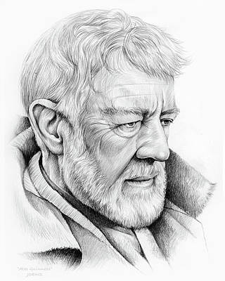Celebrities Royalty-Free and Rights-Managed Images - Alec Guinness by Greg Joens