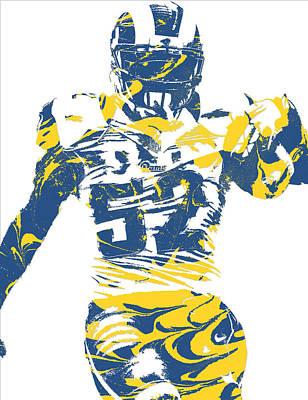 Nfl Mixed Media - Alec Ogletree Los Angeles Rams Pixel Art 3 by Joe Hamilton