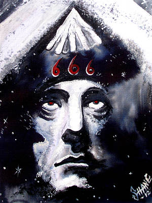 Aleister Crowley Space In Time With The Great Beast Art Print by Sam Hane