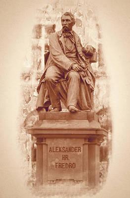 Photograph - Aleksander Fredro Statue Fine Art by Jacek Wojnarowski