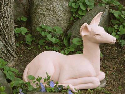 Sculpture - Alert Fawn by Deborah Dendler