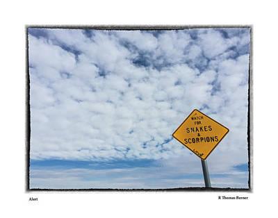 Photograph - Alert by R Thomas Berner