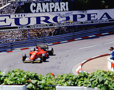 Photograph - Alesi At 1994 Monaco Grand Prix by John Bowers