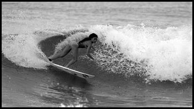 Female Surfer Photograph - Alessa Quizon Cutback by Brad Scott