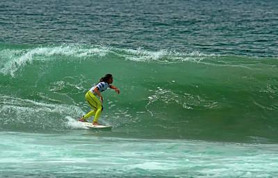 Photograph - Alessa Quizon Surfer Girl by Waterdancer