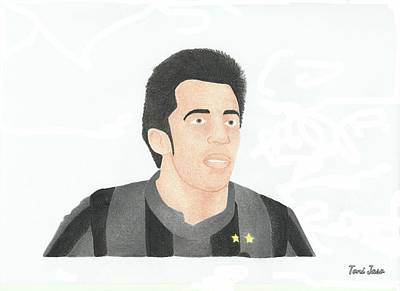 Drawing - Alessandro Del Piero by Toni Jaso