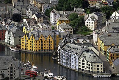 Photograph - Alesund Centre by Tony Murtagh
